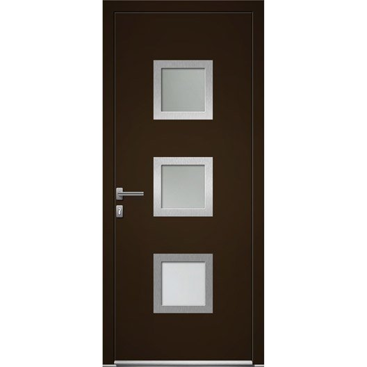porte d 39 entr e sur mesure en aluminium seatle excellence leroy merlin. Black Bedroom Furniture Sets. Home Design Ideas