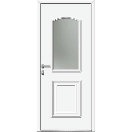 Porte d 39 entr e sur mesure en pvc riga excellence leroy - Porte sur mesure leroy merlin ...