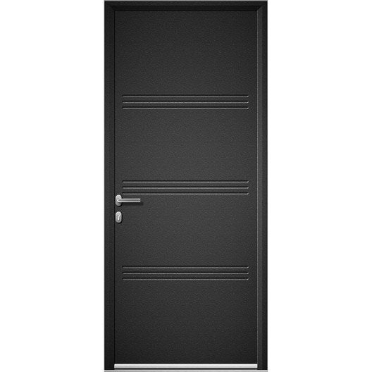porte d 39 entr e sur mesure en aluminium plano artens leroy merlin. Black Bedroom Furniture Sets. Home Design Ideas