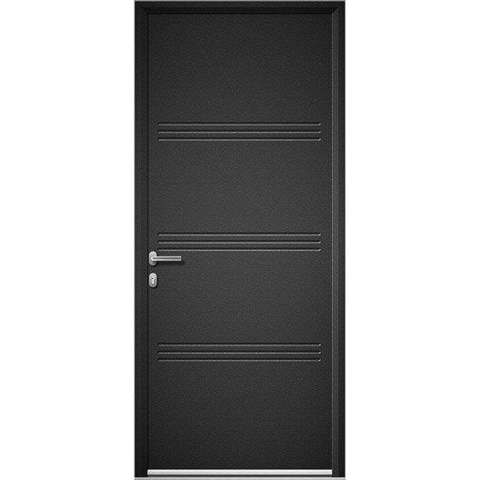 porte d 39 entr e sur mesure en aluminium plano artens leroy merlin. Black Bedroom Furniture Sets. Home Design Ideas