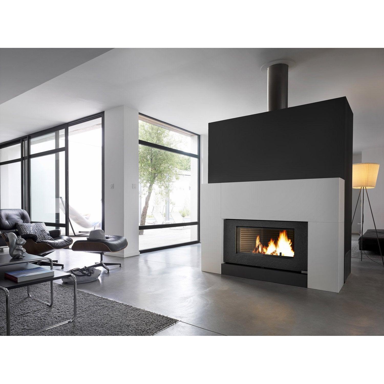 poêle à bois invicta cheminée onyx 6120-46, 12 kw | leroy merlin