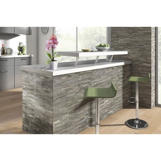 Plaquette de parement pierre naturelle gris magrit leroy merlin - Plaquette de parement pour cuisine ...