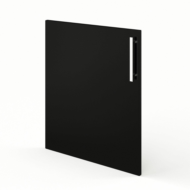Porte De Cuisine Noir Délice L X H Cm Leroy Merlin - Porte de cuisine