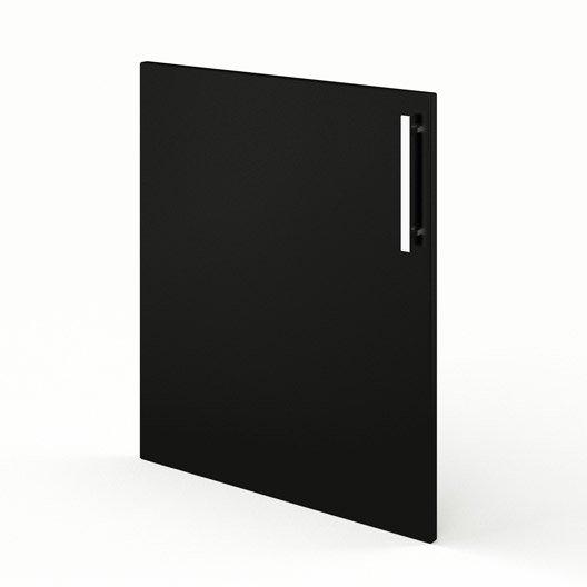 Porte de cuisine noir d lice x cm leroy merlin for Porte 70 cm de large
