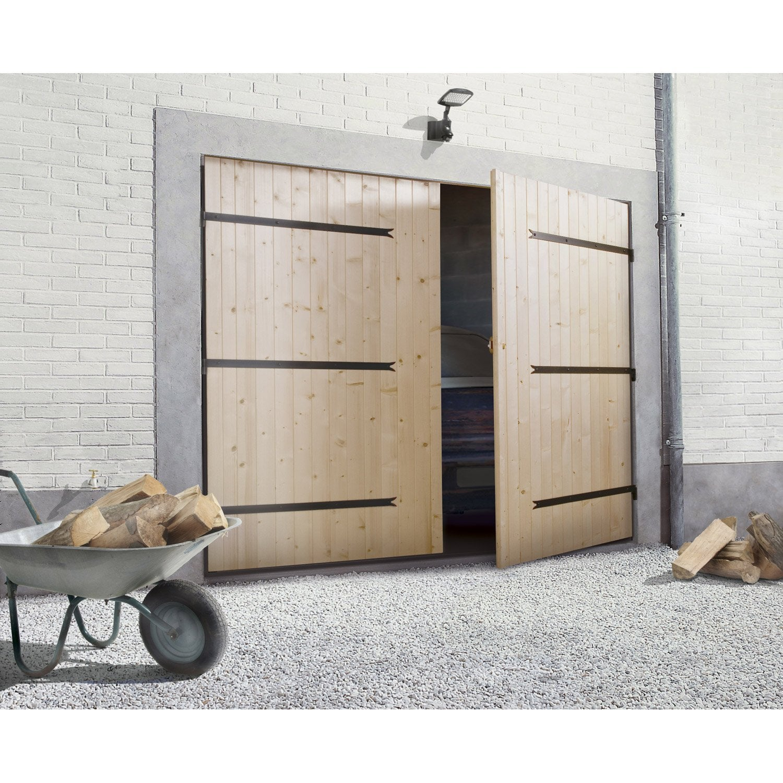Porte De Garage Battante 2 Vantaux Manuelle Primo H 200 X L 240 Cm