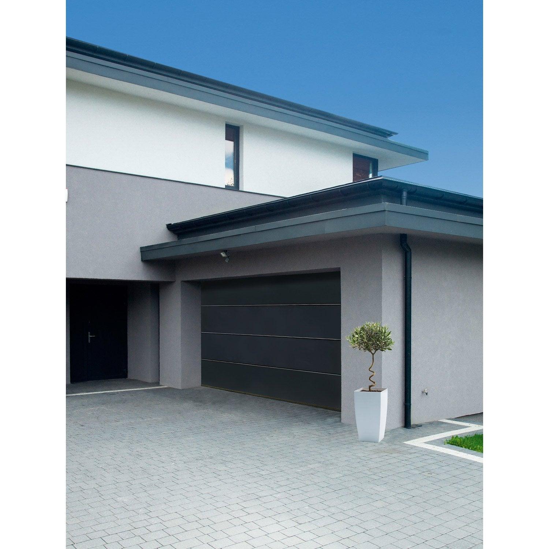 Porte de garage sectionnelle motoris e artens premium h for Porte de garage tubauto point p
