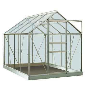 Serre de jardin en polycarbonate simple paroi Rainbow, 4.96 m²