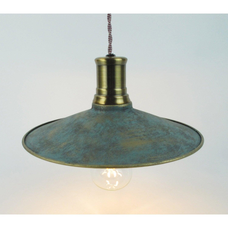 Suspension, e27 vintage Dali métal vert de cuivre 1 x 60 W SAMPA HELIOS