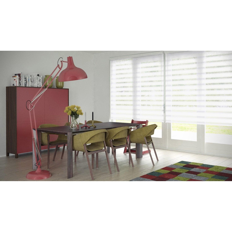store enrouleur jour nuit authentic blanc 77 80 x 190 cm leroy merlin. Black Bedroom Furniture Sets. Home Design Ideas