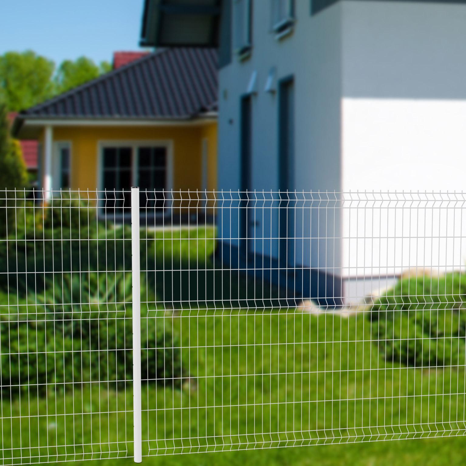 Brise Vue Hauteur 1M70 grillage rigide soudé naterial blanc h.1.72 x l.2.48m, maille 200x55mm