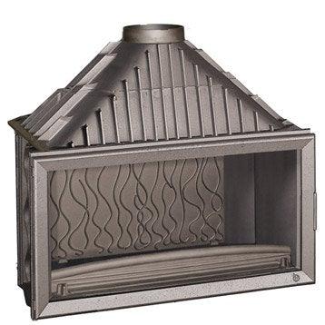 Foyer à bois façade droite INVICTA 6211-44 18 kW