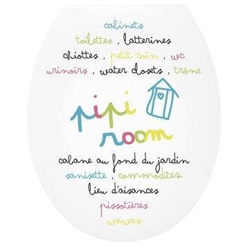 Abattant WC Pipi room multicolore
