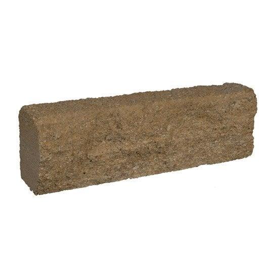 Bordure droite pierre du gard naturelle ton pierre h 15 x for Leroy merlin bordure