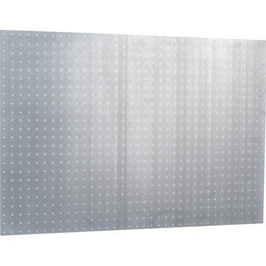 Panneau perforé MOTTEZ, H.60 x l.90 x P.0.3 cm