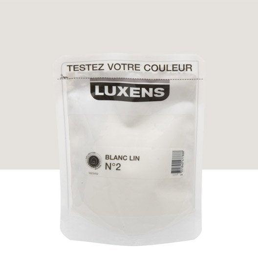 Testeur peinture blanc lin 2 luxens couleurs int rieures - Peinture luxens blanc satin ...