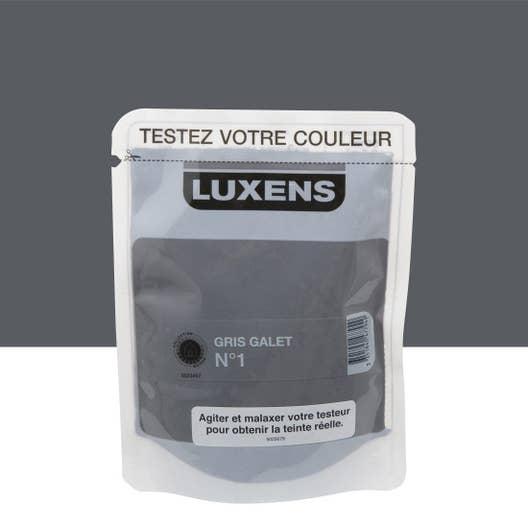 Testeur peinture gris galet 1 satin LUXENS Couleurs intérieures ...