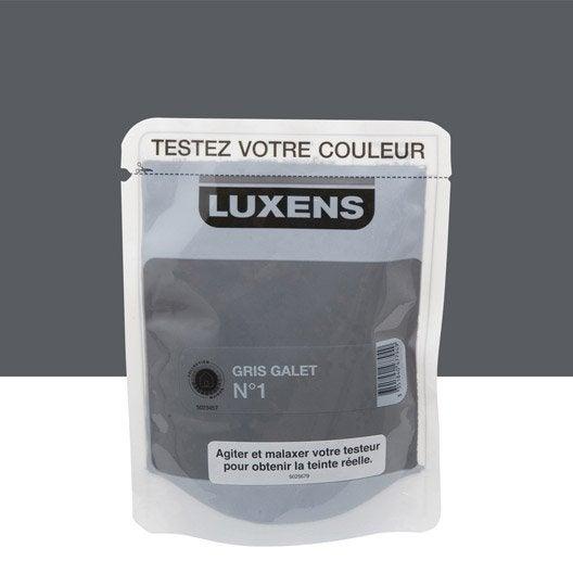 Testeur peinture gris galet 1 luxens couleurs int rieures satin l leroy merlin - 2eme couche de peinture sans trace ...