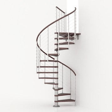 escalier colima on rond ring line marches bois structure m tal chrom. Black Bedroom Furniture Sets. Home Design Ideas