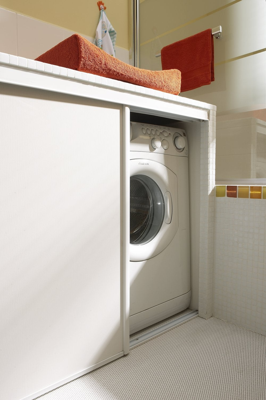 Meuble Lave Linge Seche Linge Colonne et hop, la machine à laver apparaît ! | leroy merlin
