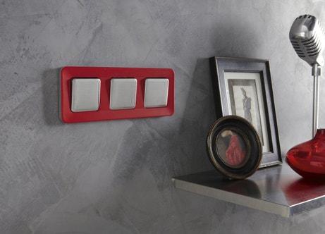Interrupteur triple rouge et blanc