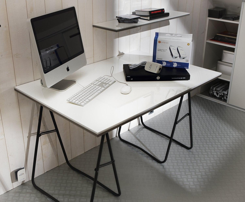 Bureau avec treteaux avec bureau ikea angle inspirant bureau