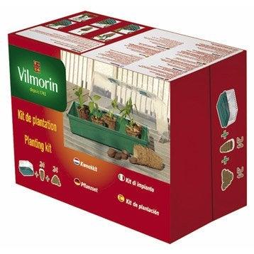 Kit de plantation : serre rigide + 24 godets coco 6 cm + 24 pastilles VILMORIN