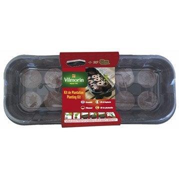 Kit de plantation : mini serre souple + 10 pastilles de fibre de coco VILMORIN