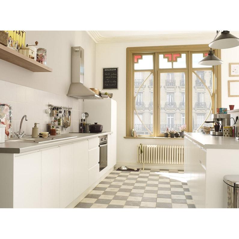 Joue Meuble Bas De Cuisine Blanc Graphic L 65 X H 70 Cm Leroy Merlin