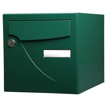 Boîte aux lettres normalisée la poste 1 porte RENZ Essentiel, acier vert
