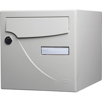 Boîte aux lettres normalisée la poste 1 porte RENZ Essentiel, acier ivoire