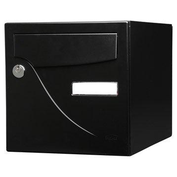 Boîte aux lettres normalisée la poste 2 portes RENZ Essentiel, acier noir