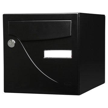 Boîte aux lettres normalisée la poste 1 porte RENZ Essentiel, acier noir