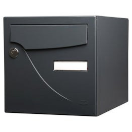 Boîte aux lettres normalisée la poste 2 portes RENZ Essentiel, acier gris