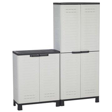 Lot de 2 armoires hautes et 1 basse, blanc ALLIBERT airspire