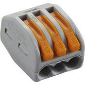 Lot de 50 bornes automatiques à levier 3 entrées pour fil rigide et souple WAGO