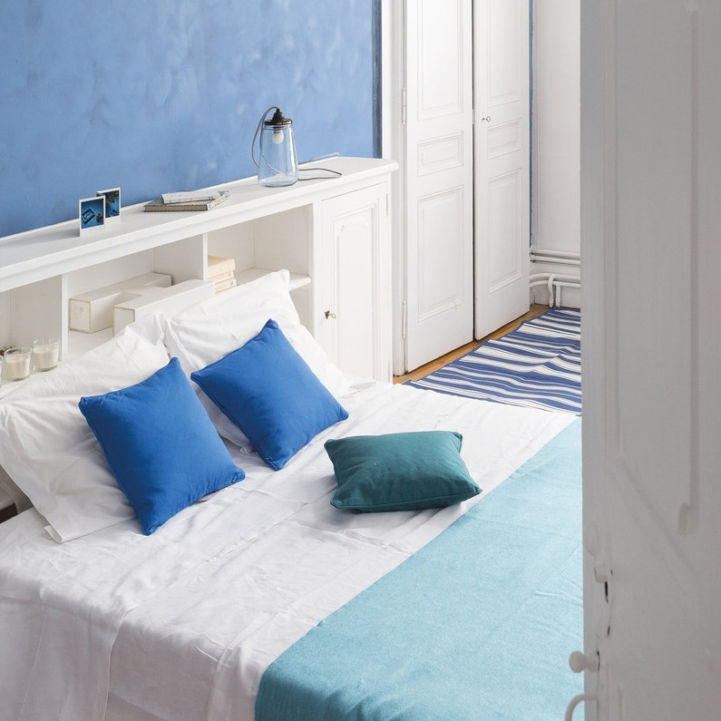 un bleu m diterran e un effet chaux leroy merlin. Black Bedroom Furniture Sets. Home Design Ideas