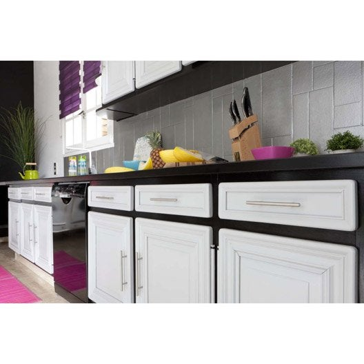 Peinture d colab meuble de cuisine 100 r sist v33 blanc ivoire l leroy merlin - Meuble patine blanc ivoire ...