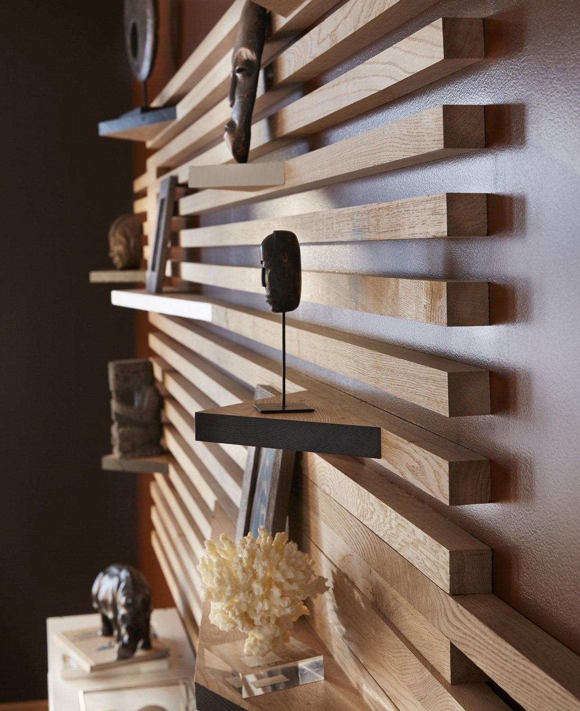 Idee Habillage Mur Interieur idées d'aménagement avec les tasseaux | leroy merlin