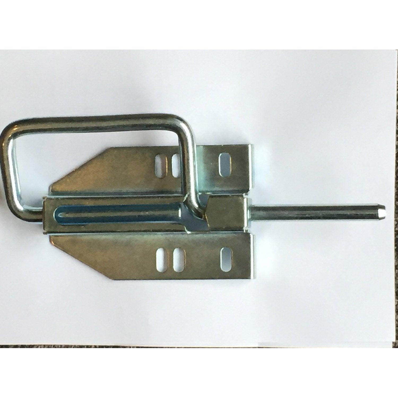 Verrou Latéral Simple Pour Porte De Garage Coulissante Leroy Merlin - Serrure porte de garage coulissante