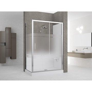 Kit de remplacement baignoire par douche en angle 70X140 cm, Elyt evolution 2.0