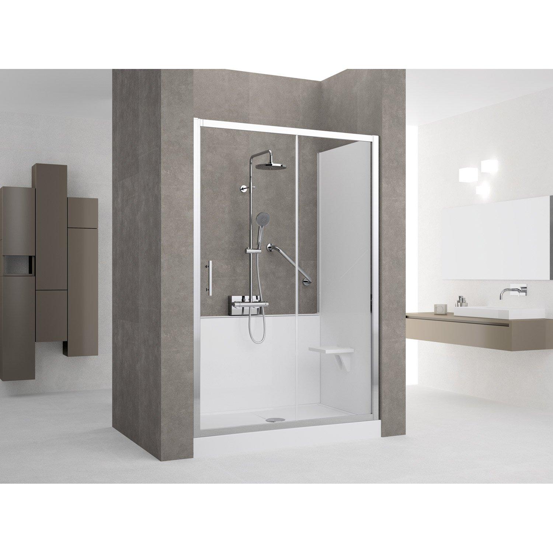 kit de remplacement baignoire par douche en niche 70x140. Black Bedroom Furniture Sets. Home Design Ideas