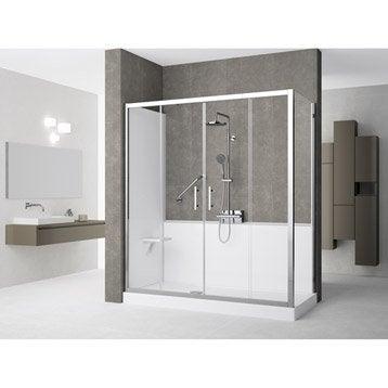 Kit de remplacement baignoire par douche en angle 80X160 cm, Elyt evolution 2.0