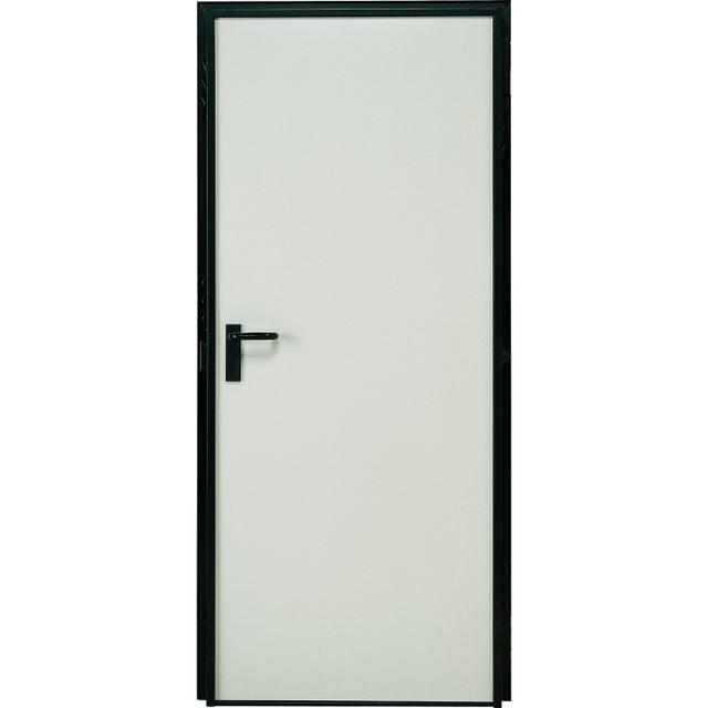 Porte De Service Acier Laquée Blanc Poussant Gauche H200 X L79 Cm