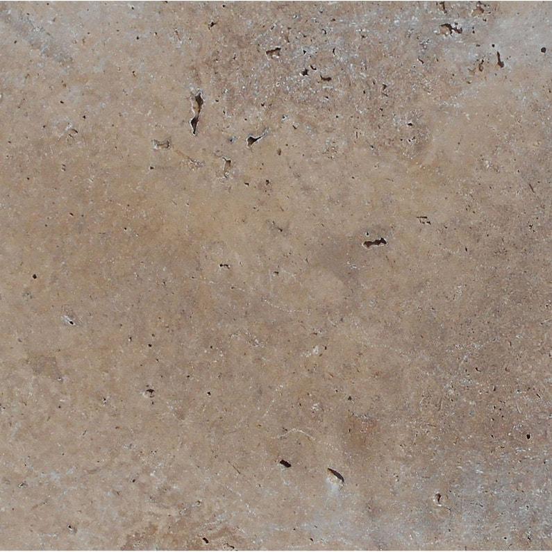 Dalle travertin, marron/beige, L.61 x l.40.6 cm x Ep.12 mm