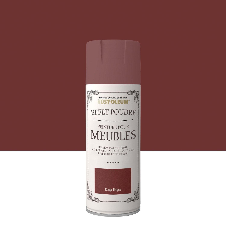 Peinture Pour Brique Extérieur peinture aérosol effet poudré mat rustoleum, rouge brique, 0.4 l