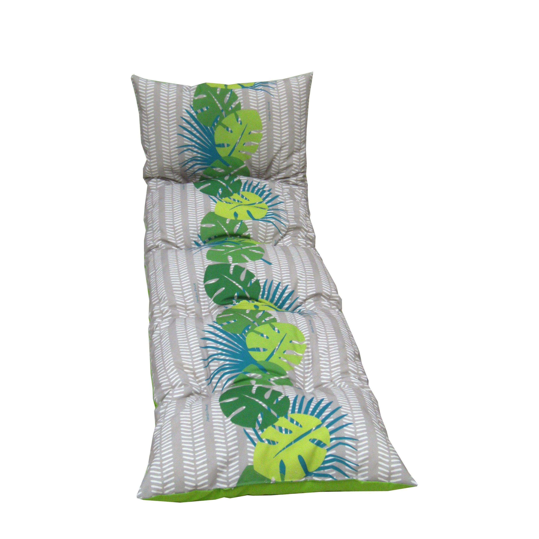 Coussin de jardin Antilles JARDIN PRIVE, vert l.56 cm   Leroy Merlin