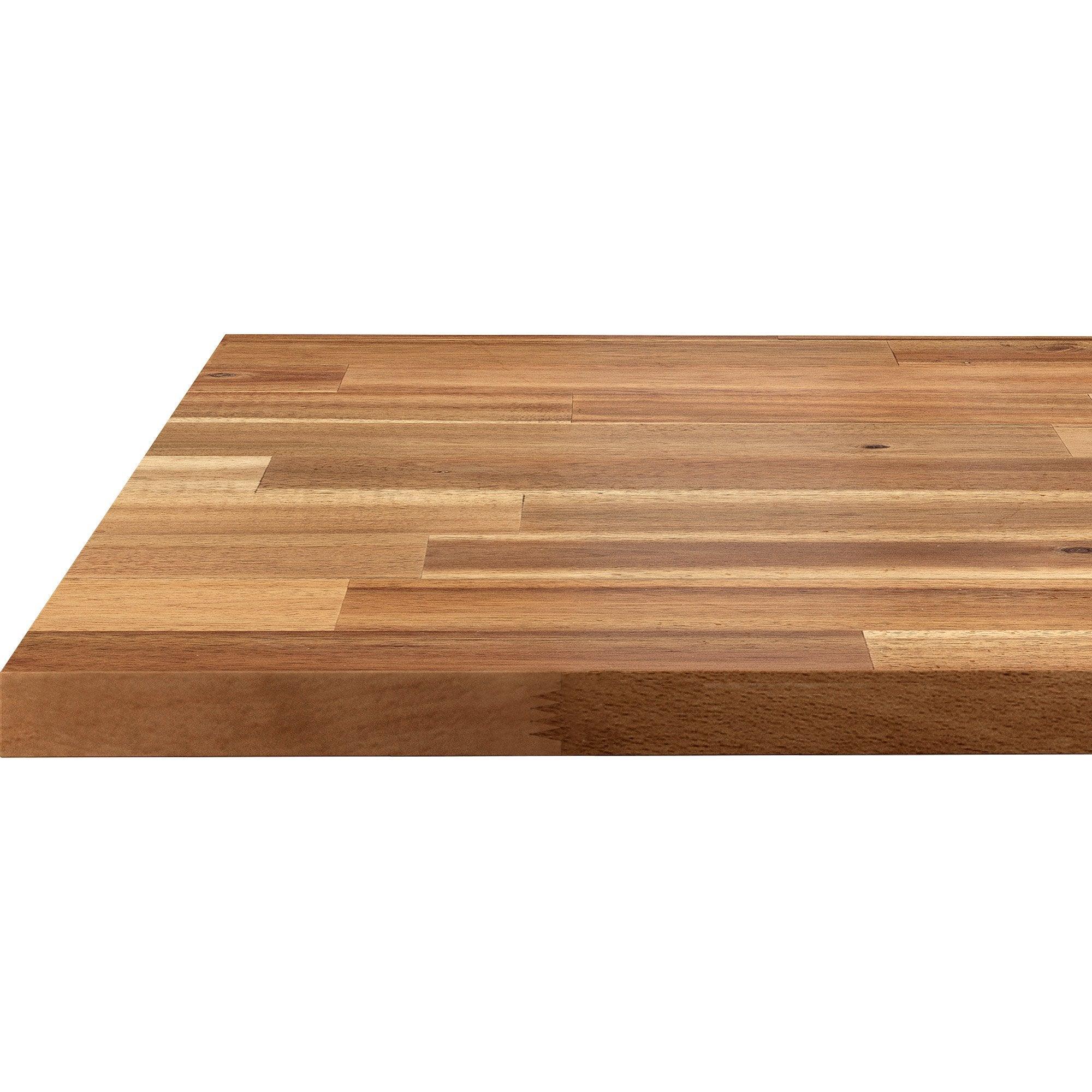 Plan De Travail Ikea Bois Massif plan de travail bois acacia pré-huilé l.250 x p.65 cm, ep.26 mm
