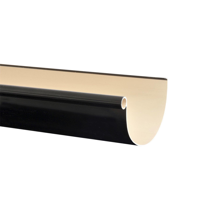 Gouttière Pvc En U gouttière demi-ronde pvc girpi dév.25 cm noir l.4 m
