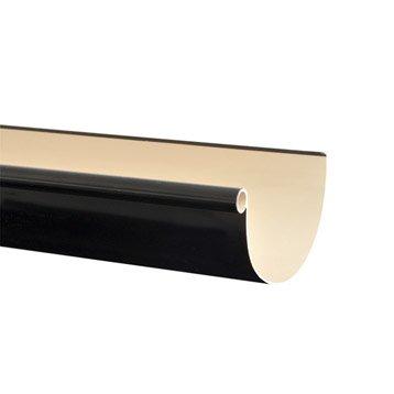 Gouttière demi-ronde PVC GIRPI dév.25 cm noir L.4 m