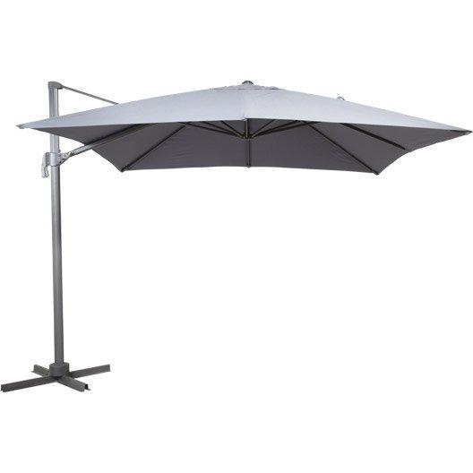 parasol d port roma gris carr x cm leroy merlin. Black Bedroom Furniture Sets. Home Design Ideas